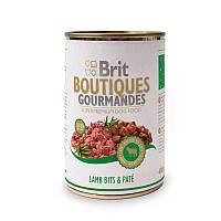 Консервы Brit Boutiques Gourmandes LambBits&Pate 400 г*12 шт-кусочки ягненка в паштете для собак
