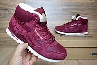 Женские ботинки Reebok Бордовые