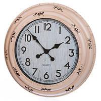 Настенные часы в оправе цвета пудра
