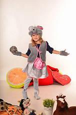 Карнавальный костюм Мышка для девочки 3-7 лет. Детский маскарадный костюм, фото 3