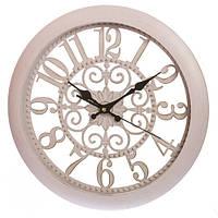 Часы настенные кремовые с прозрачным циферблатом