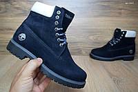 Женские Ботинки Timberland Темно-синие Топ Реплика