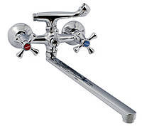 Смеситель для ванны ZEGOR (крест) Т65 - DFU - A827