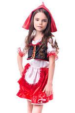 Костюм Красная Шапочка для девочки 3-7 лет. Детский новогодний маскарадный карнавальный костюм, фото 3