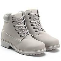 Зимние тёплые ботинки на шнуровке