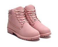 Красивые розовые зимние ботинки размеры 36-41