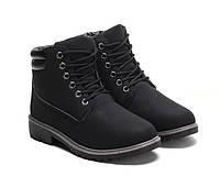 Зимние женские ботинки чёрного цвета размеры 36-41