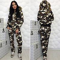 "Женский дутый спортивный костюм  "" Philipp Plein military "" Dress Code"