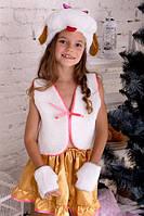 Карнавальный костюм Собачка для девочки 3-7 лет. Детский новогодний маскарадный костюм