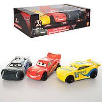 Набор машинок Тачки Cars 17616: 3 машинки в комплекте (инерционные, 16см)