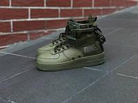 Мужские кроссовки Nike Special Field Air Force 1 Zipper SF AF1 Mid Faded  Olive (Реплика 2d6e901ac73