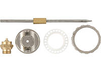 Ремкомплект для фарборозпилювача 4 предмети: сопло 1,2 мм + голка + форсунка + зажим сопла// MTX 573809