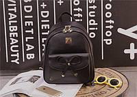 Сумка рюкзак женский городской. Портфель для девочек. Черный