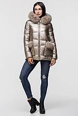 Зимняя женская куртка  ZILANLIYA-17228 золотого цвета, фото 2