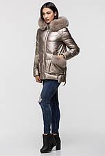 Зимняя женская куртка  ZILANLIYA-17228 золотого цвета, фото 3