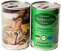 Консервы для котов и кошек Baskerville Оленина с мясом курицы