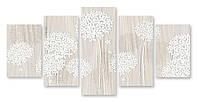 Модульная картина белые лепестки