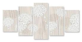 Модульна картина білі пелюстки
