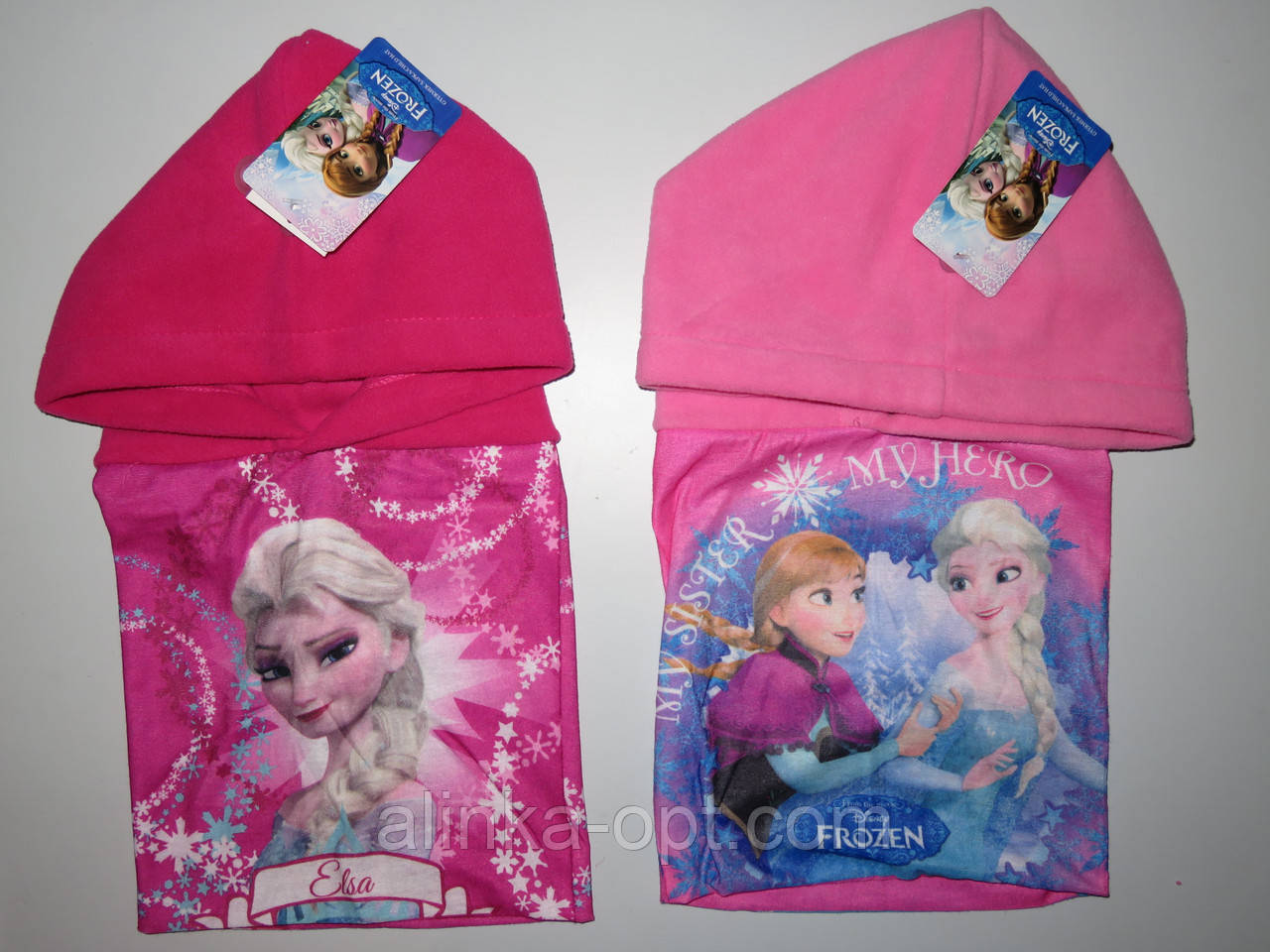 Шапка-капюшон для девочек Disney оптом., фото 1