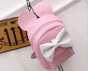 Маленький детский рюкзак Микки розовый