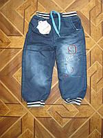 Детс кие теплые джинсы на махре для мальчиков 3-7 лет Турция