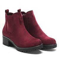 Модные женские ботинки из искусственного замша