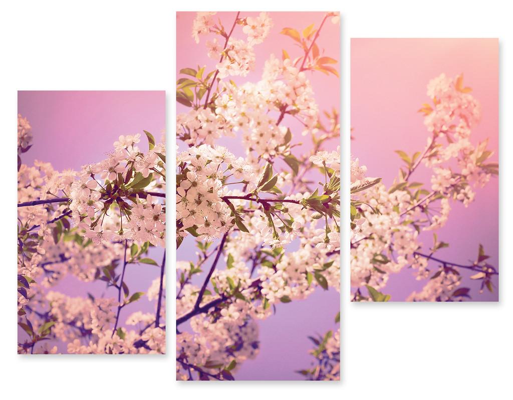 Модульная картина цветы на ветках