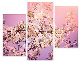 Модульна картина квіти на гілках