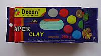 """Масса для лепки Зеленая """"Paper Clay Dozen"""",250гр застывающая на основе глины.Маса для ліплення Зелена """"Paper C"""