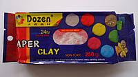 "Масса для лепки Красная ""Paper Clay Dozen"",250гр застывающая на основе глины.Маса для ліплення Червона ""Paper"