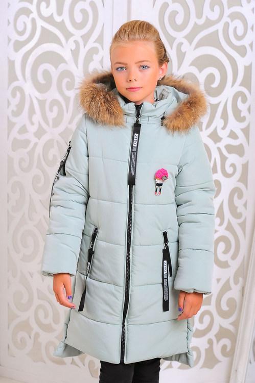 Детское пальто зимнее для девочки
