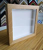 Рамка для 3D 15х15 см. (цвет - натуральный дуб), фото 1