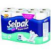 Трехслойная туалетная бумага Selpak, 24 рулона