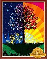 Картины по номерам 40×50 см. Babylon Premium Дерево счастья, фото 1