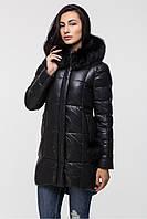 Удлиненная черная женская зимняя куртка ZILANLIYA