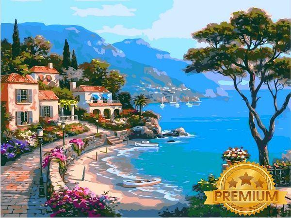 Картины по номерам 40×50 см. Babylon Premium Райский уголок Художник Сунг Ким