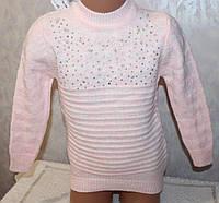 Туника на девочку вязанная с камнями 4-5,6-7,8-9 лет