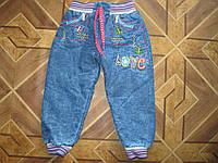 Детские джинсы на махре для девочек 1-4 года Турция