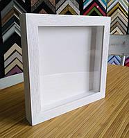 Рамка для 3D 25х25 см. (Цвет - белый дуб), фото 1