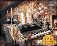 Картины по номерам 40×50 см. Babylon Premium Музыкальный вечер у камина Художник Гибсон Джуди, фото 1