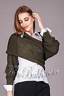 Женский вязаный свитер - шарф
