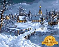 Картины по номерам 40×50 см. Babylon Premium (цветной холст + лак) Зимняя сказка Художник Виктор Цыганов, фото 1