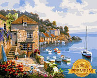 Картины по номерам 40×50 см. Babylon Premium Дом на берегу океана Художник Сунг Ким