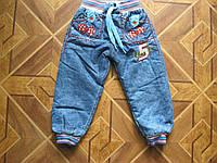 Детские джинсы на махре для мальчиков 68- 74  sm  Турция