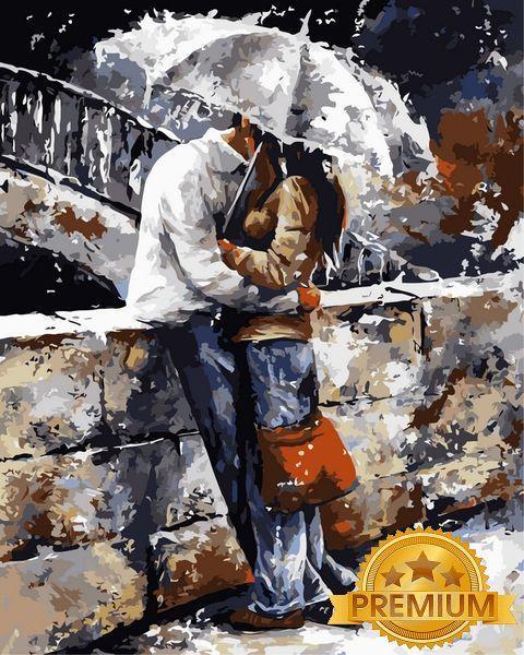 Картины по номерам 40×50 см. Babylon Premium Прогулки под дождем Художник Эмерико Имре Тот