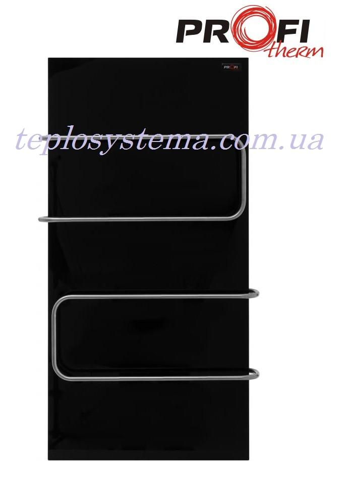 Полотенцесушитель электрический ProfiTherm Maxi 500 х 1000 черный (стеклянная панель)