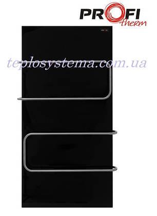 Полотенцесушитель электрический ProfiTherm Maxi 500 х 1000 черный (стеклянная панель), фото 2