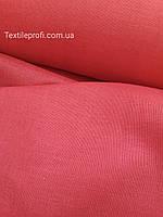 Полупрозрачная ткань лен - вуаль для штор, красного цвета (шир. 160 см) , фото 1