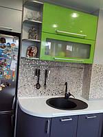 Встроенная угловая кухня под заказ  6