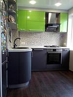 Встроенная угловая кухня под заказ  7